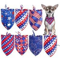 كلب الكلاب باندانا كلب الملابس الملحقات مثلث وشاح تجشؤ القماش الاحتفال الاستقلال يوم الديكور غطاء الرأس القوس التعادل لوازم FWF6147