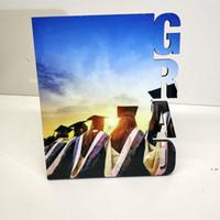 يمول diy إطار الصورة التي تسجل الصداقة التسامي فارغة صور خشبية المجلس ألبوم نقل الحرارة غير المؤطرة لوحات HWE5702