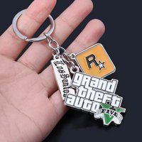 Keychain Multi-Ceantant Key Ring Holder Fob Game V 5 Цепочка для фанатов Cha Llaveros