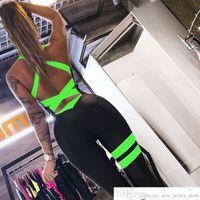 Donne da donna Yoga Gym Sportswear A Sportswear One Piece Backless Sexy Tracksuit per allenamento femminile Slim Bianco Bianco Bianco Black Fitness Women Donne tuta con padsoccer Jersey