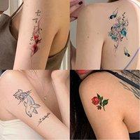 Geçici Dövmeler Vücut Sanatı Sticker Ins Çiçek Harfleri Karikatür Kelebek Sahte Dövme Infinity Dövme