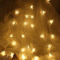 Sternförmige led fee fee string beleuchtung batteriebetriebene feiertag weihnachtsfest hochzeit dekoration licht warm weiß 1,5 ml 10LEDs