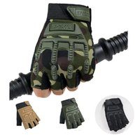 Cycling Gloves 1 Pair Of Children Army Tactical Half Finger Bicycle Camouflage Outdoor Riding Non-Slip Wear-Resistant Thin Kids