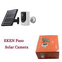 1080P Eken Paso 카메라 무선 WiFi 홈 보안 PIR 모션 비디오 야간 투시경 탐지 태양 전지 패널 충전식 배터리 방문자에게 말한다