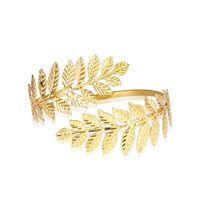 Bangle Gold Silver Plated Greek Roman Laurel Leaf Bracelet Armband Upper Arm Cuff Armlet Festival Bridal Belly Dance Jewelry