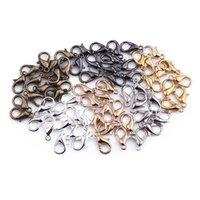 50 pz / lotto Aragosta stringaio gancio aperto cerchio anelli di salto anelli gioielli risultati fai da te creazione collana braccialetto fibbia accessori gioielli 1369 Q2