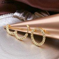 Hoop & Huggie 10pairs Classic Round Earring Small Ins Trendy Twisty Rugged Earrings Hypoallergenic Ear Jewelry For Women Men Gifts
