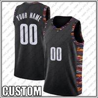 Özel Brooklyn Beyaz Siyah Basketbol Takımı Jersey DIY Dikişli Adı Numarası Kazak Boyutu S-XXL Art98NCV