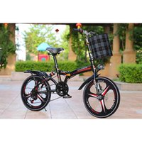 Folding Bikes 20-Inch Shifts Three-Knife Disc Brakes Men And Women With Ultra-Light Students Carry Small Bicycles black