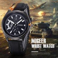 Orologio da polso Miger Miger Brand Uomo Guarda Silicone Classic Black Belt Acciaio inox Sport Pinuti da uomo Orologio QuartzWatches Reloj