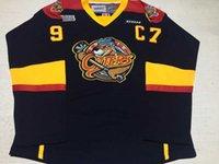 Personalizado Mens OHL 97 Connor McDavid Hockey Inscrito 'Chl Roy 2013' Erie Lontra CCM Jersey Estrada Navy Jerseys costurados S-6XL