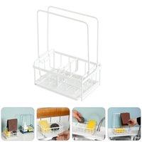 Hooks & Rails 1Pc Home Drain Sponge Holder Kitchen Storage Rack Rag (White)