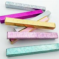 الجملة ماكياج الماس الذاتي لاصق كحل القلم مربع 3d المنك رمش gule قلم رصاص حزمة حالة مخصص كحل صناديق