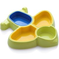 Dinnerware Sets Baby Cartoon Tableware Children Aircraft-Shaped Plate Multi-Compartment Feeding Meal Dinner Plastic Plates