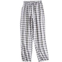 Women's Sleepwear Casual Couple Sleep Bottoms Plaid Cotton Breathable Summer Thin Women Men Sleeping Pajama Pants Sexy Lounge Wear XL