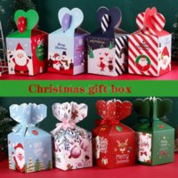 Christma Apple Box Packaging Boxs Paper Bag Creative Christmas Eve Xmas Fruit Gift case Candy retail 496