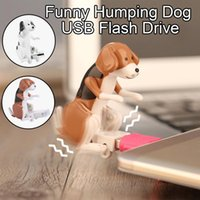Funny Humping Dog Usb Flash Drive Swing Buttock When Using Novelty Usb2.0 Cute Mini Stray Spot Toys Gift For Friends Hubs