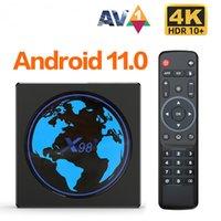 Amlogic S905W2 TV Box Android 11 X98Mini Quad Core 4G 32G 2.4G&5G Dual Wifi 100M 4K 60fps Smart Media Player X98 Mini