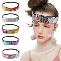 Designer Headband Reversible Paillettes Sequins Head Band Mermaid Head Strap Girlshairpins Glitter Accessori per capelli 10 Stili opzionali 3267 Q2