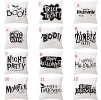 White 12 styles decorative pillow covers for christmas Halloween pillows 45*45CM home gift sofa leaning tattoo fleece pillowcase Cushion Textiles without inner