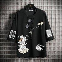 Men's T-Shirts Men T Shirt Hip Hop 2021 Dark Streetwear Tshirt Print Harajuku Summer Short Sleeve T-Shirt Cotton Tops Tees Oversize 5XL