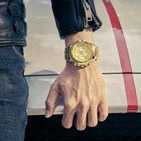Armbanduhren Herren Uhren Top 2021 Wwoor Goldene Chronograph Armbanduhr Männer Gold Großer Handgelenk Relogio Masculino