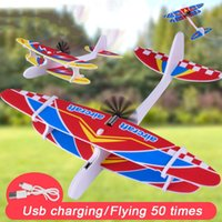 Elektrische Hand Werfen Gleiter Flugzeug Outdoor Park Schaum Gleiten Flugzeuge fliegende Spielzeug für Kinder Ebenen Modell Spielzeug 0174