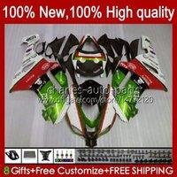 Kit bodywork per Kawasaki Ninja Motorcycle ZX 636 ZX600 ZX-636 ZX-600 2007 2008 Body 10No.159 ZX-6R ZX600C ZX636 ZX6R 07 08 ZX 6R 600 cc 600CC 6 R 07-08 Carening Green Stock