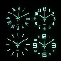 Wall Clocks Clock Luminous Wooden Number Hanging Quiet Dark Glowing Modern Watches Decoration For Living Room