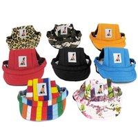 Dog Apparel 1pc Summer Hat For Small Dogs Pet Cap Chihuahua Canvas Baseball Visor Puppy Outdoor Sunbonnet Accessories