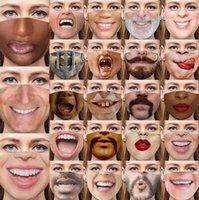 Stylowa śmieszna maska wyrazu twarzy wielokrotnego użytku, bezpieczny i ochronny 3d tkaniny pył i mgła maska dla dorosłych osobowość kreatywna maska