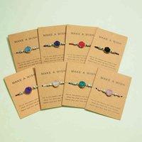 Bracciali in pietra naturale per le donne Stretch Moon Circolo Decorative Strand Braccialetti per coppie Amicizia regalo