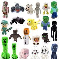 38 Arten Minecraft Plüschtiere Skeleton Mann Puppe Pig Tiger Katze Zombie Tintenfischspiel Puppen