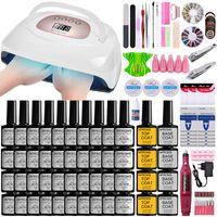 Manicure Set Nail Kit Gel Polish Electric Drill Portable UV LED Lamp Dryer Practice Art Kits