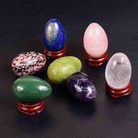 45 * 30 Big Massage Egg Yoni Ball Natural Stone Rose Quarz Jade Kristall Unriss Eier Kegel Übung Vaginal Gesundheit Werkzeug
