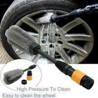 1pcs High Pressure Car Wheel Brush Tire Rim Washing Tool Vehicle Tyre Cleaning Brushes Auto Maintenance Care Accessories Sponge