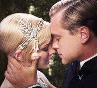 2021 O Grande Acessórios Gatsby Cristais Pérola Borlas de Cabelo Headband Headband Jóias Casamento Nupcial Tiara Hairband
