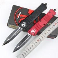 Oferta especial Microtech Combat Troodon Cuchillo Cuchillo interceptador Bowie / Hellhound Tanto / Spear Point D2 Hoja de acero Cuchillo táctico UTX85 Knifes