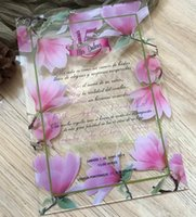 Greeting Cards Custom Acrylic Wedding Invitation, Invites,Acrylic Invitation,Eucalyptus,Peony,flower Invitations Cards, Blush,Pink