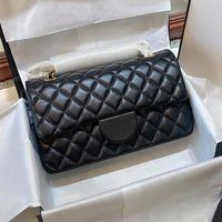Klassische Mode 5A + LAMB-Haut Original-Patent Handtaschen Top Qualität Brieftasche Berühmte Designer L Frauen Geldbörse Gold- und Silberkette Weibliche Packung Großhandel