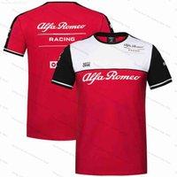 F1 팀 T 셔츠 Alfa Romeo Sauber 티셔츠 포뮬러 원 레이싱 슈트 모토 오토바이 자전거 빠른 건조 스포츠 티셔츠