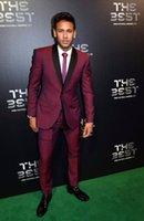 Men's Suits & Blazers Thorndike 2021 Latest Designs Burgundy Great Sell Mens Suit Formal Slim Fit Tuxedo Custome Homme Men Marriage Groom We