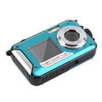 Caméscopes 48MP Sous-marine Sous-marine Appareil photo numérique Double Screen Video Camcorder Point and Shoots AS99