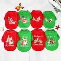 Dog Apparel Christmas and Halloween Pet Coat Clothe Costumes Winter Santa Claus T shirt Cotton Cat Cartoon Clothing Jumpsuit Outfit Pets Supply S -XXL