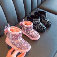 Çocuk Sıcak Çizmeler Erkek Kız Kış Kar Botları Kürk Ile 1-6 Yıl Çocuklar Kar Botları Çocuk Yumuşak Alt Ayakkabı