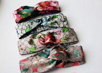 Elastisches Stirnband für Frauen Brief Pailletten Designer Grüne rote Blume Haarbänder für Frauen Mädchen Retro Turban Headwrapps