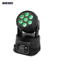 Shehds LED Wash 7x12W RGBW DMX Light för DJ Club Stage Projector Disco 12 / 16ch