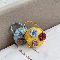 Kinder Designer Handtaschen Mini Bag Blumen Rundes Mädchen Umhängetaschen Frauen Münze Geldbörsen Marke Crossbody Tasche Kleine Brieftaschen Messenger Bags 525 R2