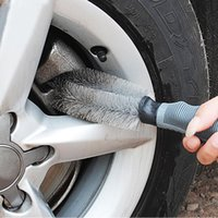 Car Sponge Rim Scrubber Wheel Brush Cleaner Dust Remover Rubber Handle Motorcycle Truck Washing Vehicle Wash Tire Cleaning Tools