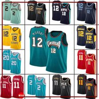 "Atlanta ""Hawks"" Charlotte ""Hornets"" Memphis ""Grizzlie Lamelo 2 Ball JA 12 Morant Gordon 20 Jersey Basketball 20 Hayward Trae 11 Jeune X10"